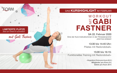 Kurshighlight: Workout mit Gabi Fastner